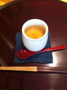 前菜。菊芋の茶碗蒸し。